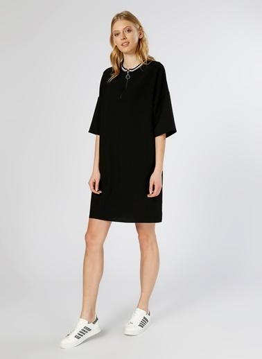 Limon Company Yarım Kollu Fermuarlı Kısa Kollu Elbise Siyah